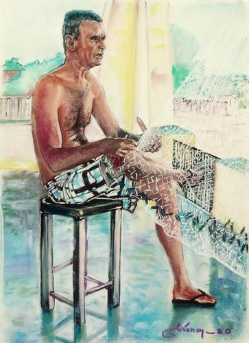 Pescador. Artista traçador de Tramas.
