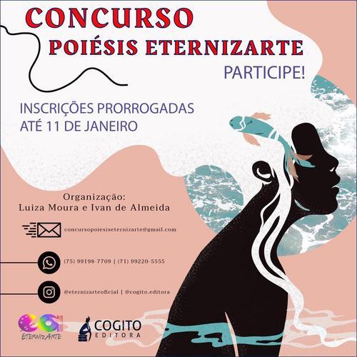 CONCURSO POIÉSIS ETERNIZARTE, não fique de fora desse projeto maravilhoso, participe você também!!